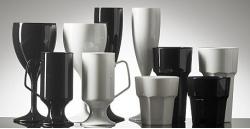 black and white plastic glassware ii 2 opt