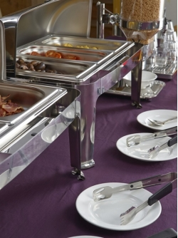 chafing dishes in use