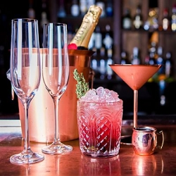 copper wine cooler with cocktails opt
