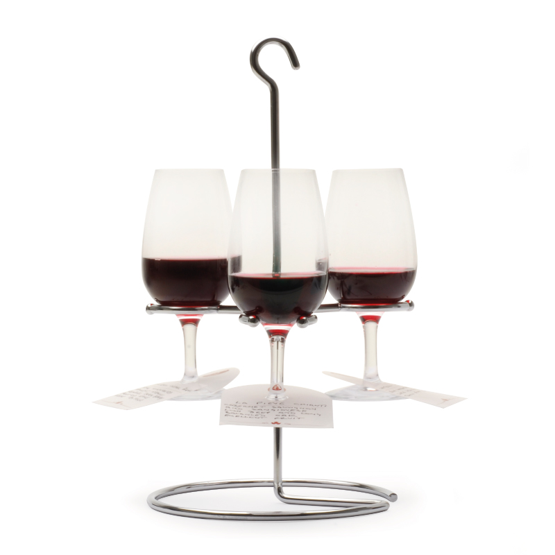 Wine Flight Three Wing Wine Holder