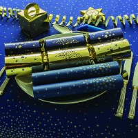 Blue Twilight Sparkle Christmas Tablesetting