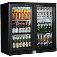 Double Door Back Bar Bottle Coolers