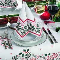 Jolly Holly Christmas Napkins and Tablecovers