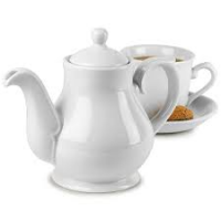 Churchill White Sandringham Teapot