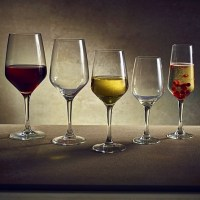 Vicrila Platine Wine Glasses range shown with wine