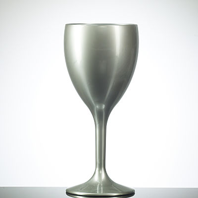 SILVER Coloured Elite Reusable Wine Glass