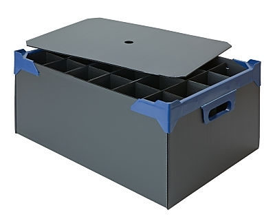 Bar Glass Storage Box for 24  x HiBall Glasses or Wine shown with lid (sold separately)