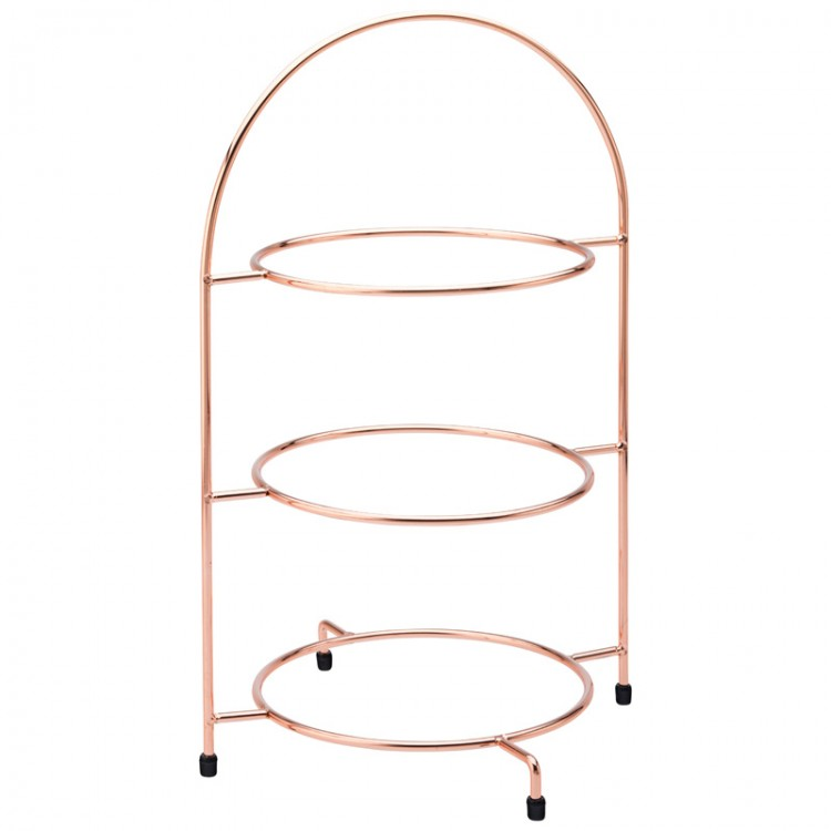 3 Tier Copper Cake Stand  sc 1 st  MK Catering u0026 Bar Supplies & 3 Tier Copper Cake Plate Stand 43cm / 17inch | Wholesale cake stand
