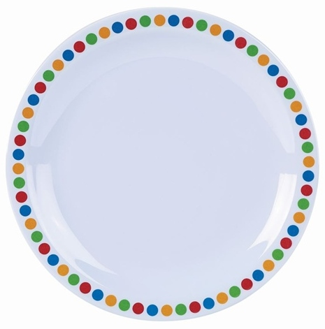 Melamine Plate with Coloured Patterned Rim  sc 1 st  MK Catering u0026 Bar Supplies & Melamine Plate with Patterned Rim 9inch / 23cm | Melamine Dinner ...