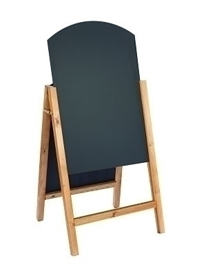 A-Frame Reversible Chalkboard with Curved Top