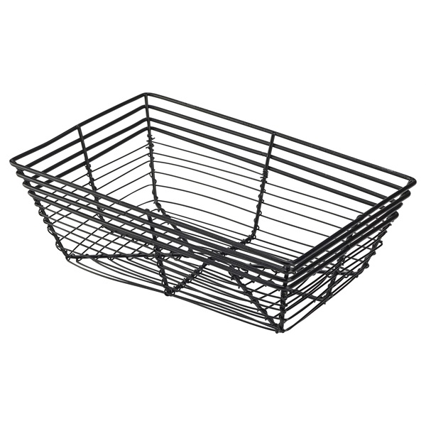 Rectangular Wire | Black Wire Rectangular Basket Food Display Basket Black Food Basket