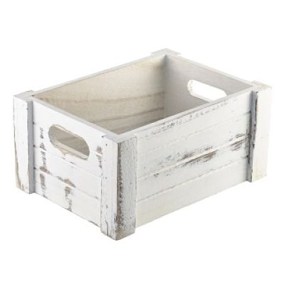 rustic white wooden crate wooden display box wooden
