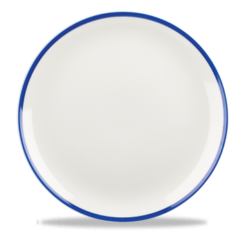 26cm Churchill Retro Blue Coupe Plate