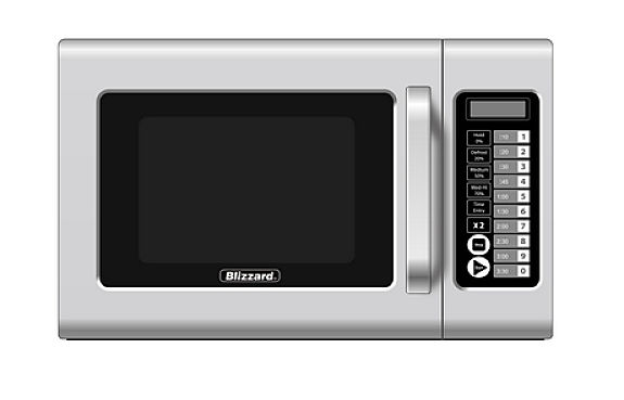 Commercial Microwave Oven Touch Controls 1000W