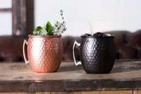 55cl Barrel Copper Mug with Hammered Finish