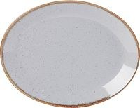 Stone Porcelite Seasons Oval Plate