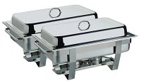 2 x Full Size 1-1 Chafing Dishes Complete