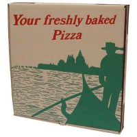 Brown Corregated Pizza Box