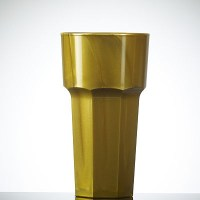GOLD Coloured Reusable Plastic HiBall Glass 12oz / 34cl