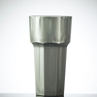 SILVER Coloured Reusable Plastic HiBall Glass 12oz / 34cl
