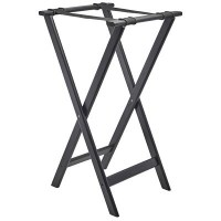 Black Wooden Tray Stand