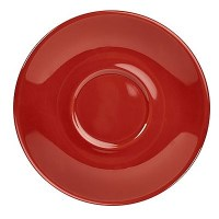 RED Porcelain Saucer