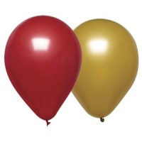 Red and Gold Metallic Party Balloons 12inch / 30cm