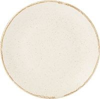 Oatmeal Porcelite Seasons Coupe Plate