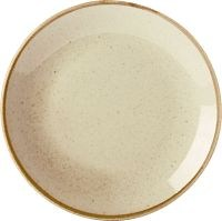 Wheat Porcelite Seasons Coupe Plate