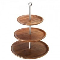 3 Tiered Acacia Cake Stand / Sharing Platter