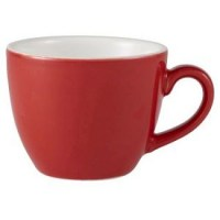 Red Porcelain Bowl Shaped Espresso Cup