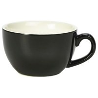 Black Porcelain Bowl Shaped Cup