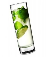 33cl Toughened Islande Hiball Glass with drink