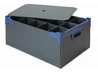 Bar Glass Storage Box for 15 x Pint Glass or Large Wine Glass shown with lid (available separately)