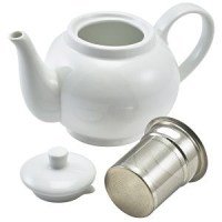 Genware Porcelain Teapot with Infuser