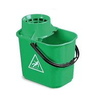 GREEN Mop Bucket with Wringer 12 Litre