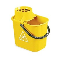 YELLOW Mop Bucket with Wringer 12 Litre