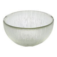 Round Glass Snack Bowl