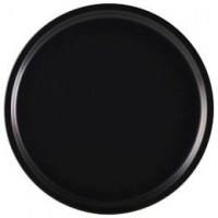 Luna Matt Black Pizza Plate