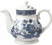 Churchill Blue Willow Tea Pot