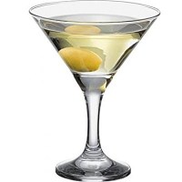 Bistro Martini Glass with drink and olive