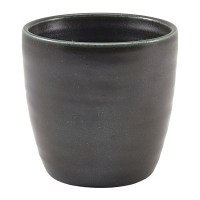 Black Terra Porcelain Chip Cup