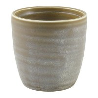 Matt Grey Terra Porcelain Chip Cup