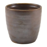 Rustic Copper Terra Porcelain Chip Cup