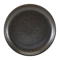 Black Terra Porcelain Coupe Plate
