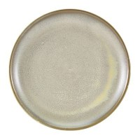 Grey Terra Porcelain Coupe Plate