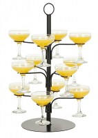Cocktail or Champagne Glass Tree with cocktails