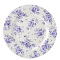Heritage Vintage Wide Rim Plate 'Faith' Floral Design