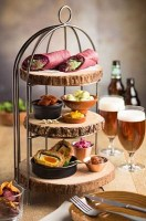 3 Tier Aged Copper Birdcage Plate / Cake Stand