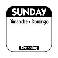 SUNDAY Dissolving Food Day Label BLUE